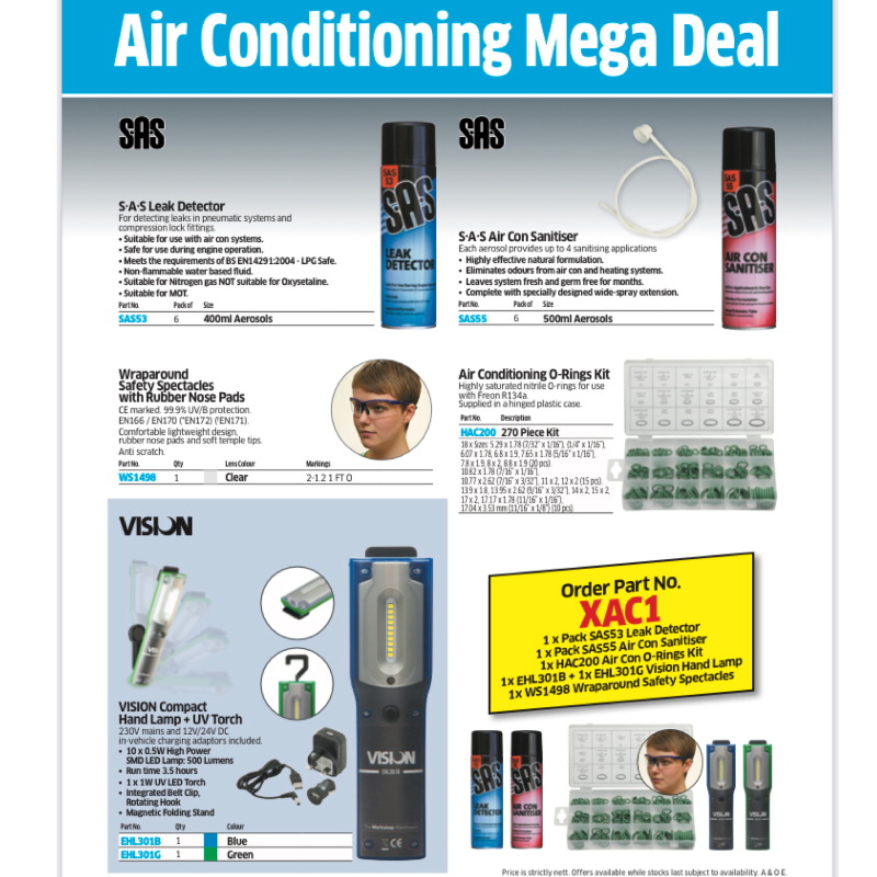 Air conditioning workshop kit