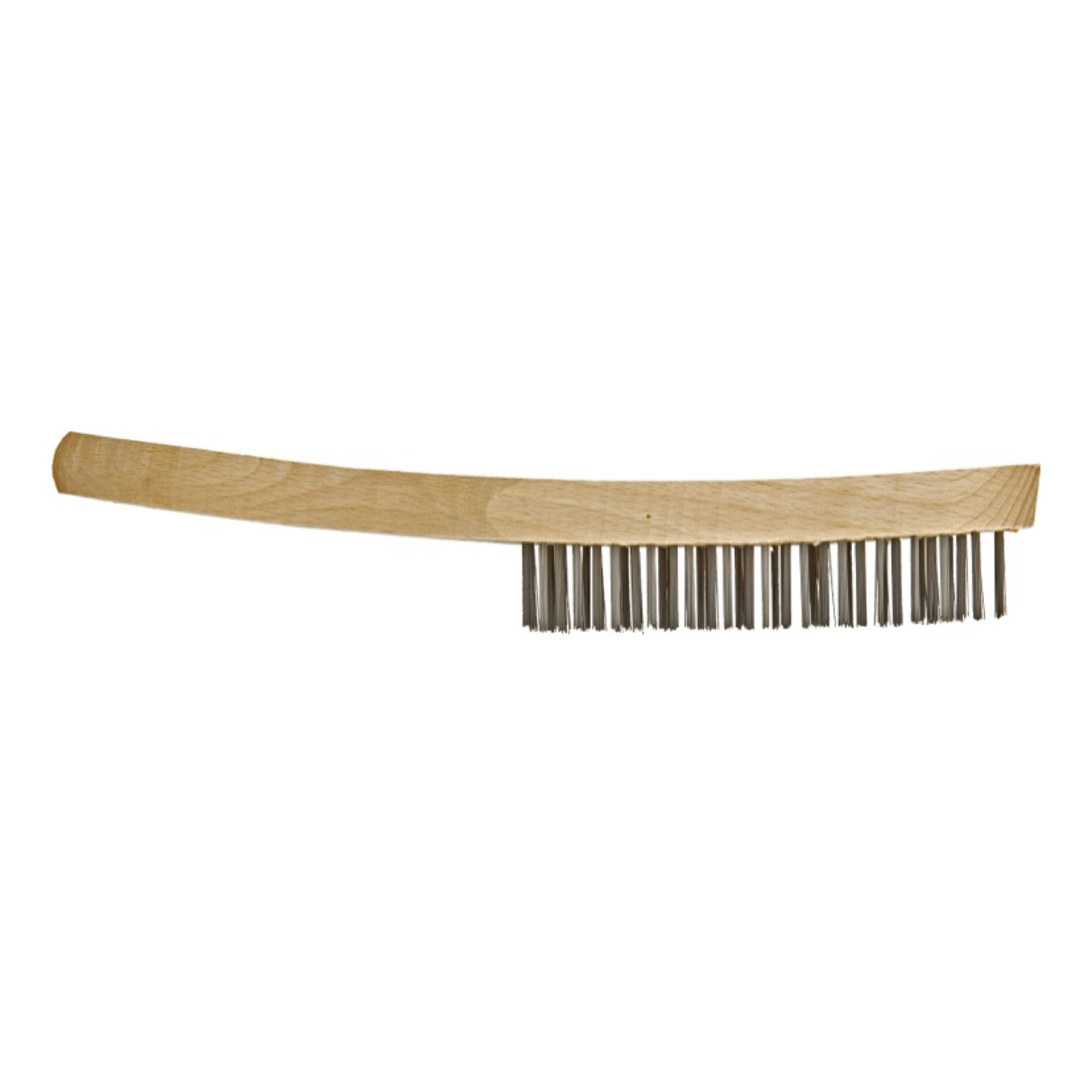 Wooden Handle Wire Brush 4 Row