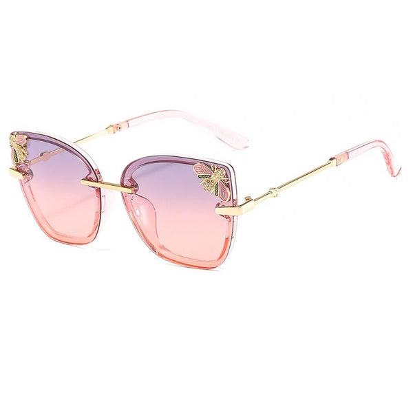5 Colors Diamond Bee Cat Eye Sunglasses