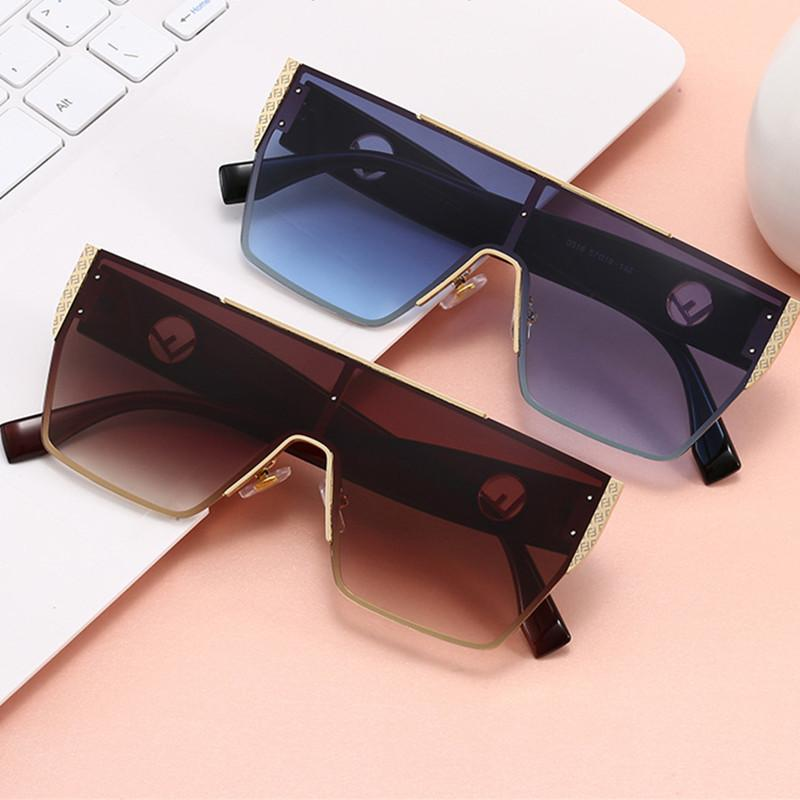 8 Colors Conjoined Lens Letter Frame Sunglasses