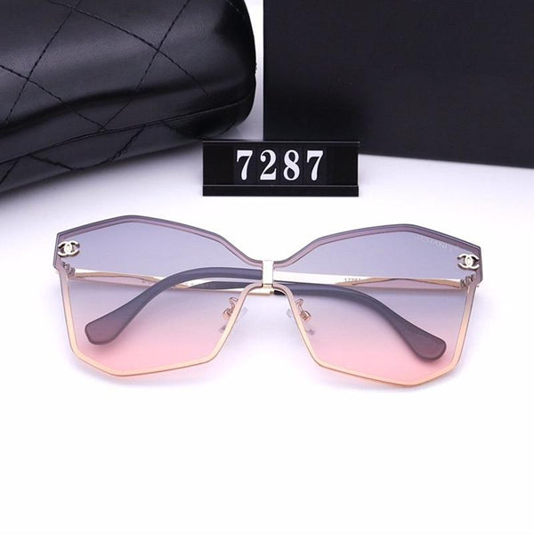 7 Colors Butterfly Shape Gradient Color Sunglasses