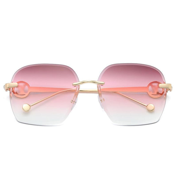 6 Colors Diamond Ocean Polygon Rimless Sunglasses