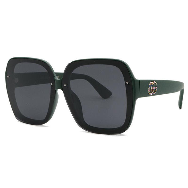 4 Colors Colored Diamond Letter Polarized Sunglasses
