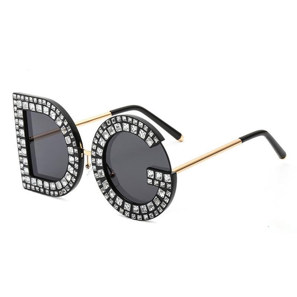 10 Colors Diamond Lettering Frame Sunglasses