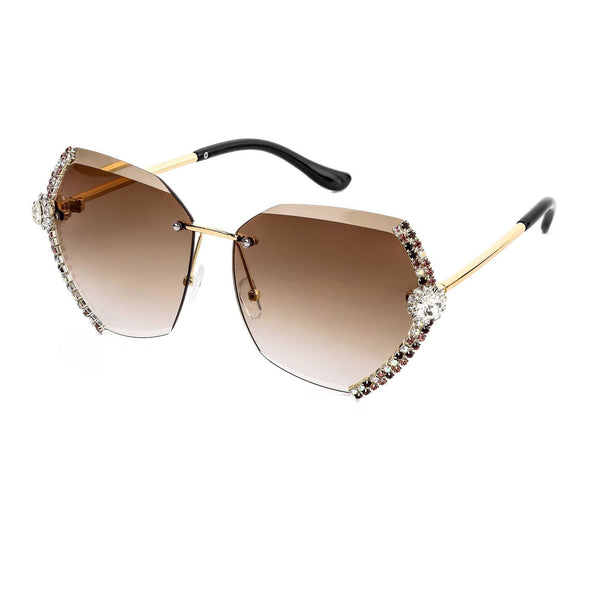 2 Colors Handmake Luxury Diamond Sunglasses
