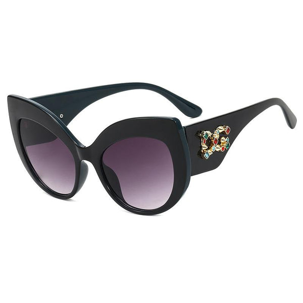5 Colors Diamond Lettering Cat Eye Sunglasses