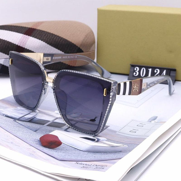 4 Colors Stripe sawtooth Frame Sunglasses