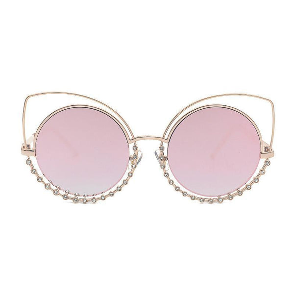4 Colors Hollow Out Diamond Cat Eye Sunglasses