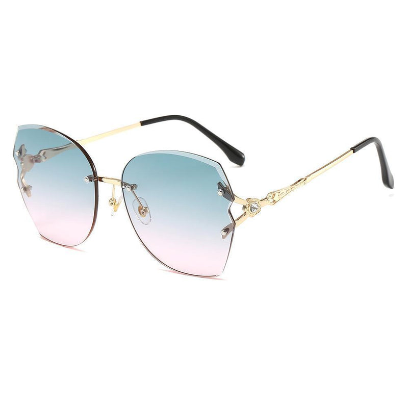 6 Colors Diamond Flower Ocean Rimless Sunglasses