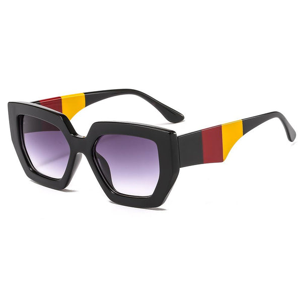 7 Colors Three-colour Big Frame Sunglasses