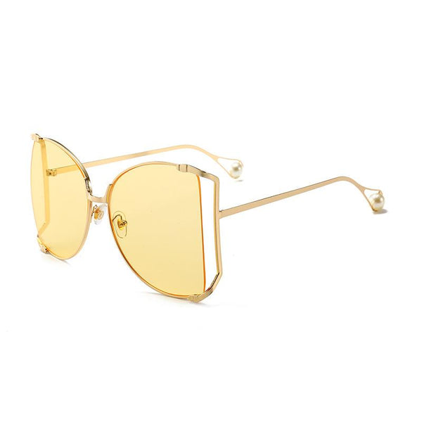 7 Colors Ocean Lens Irregular Metal Sunglasses