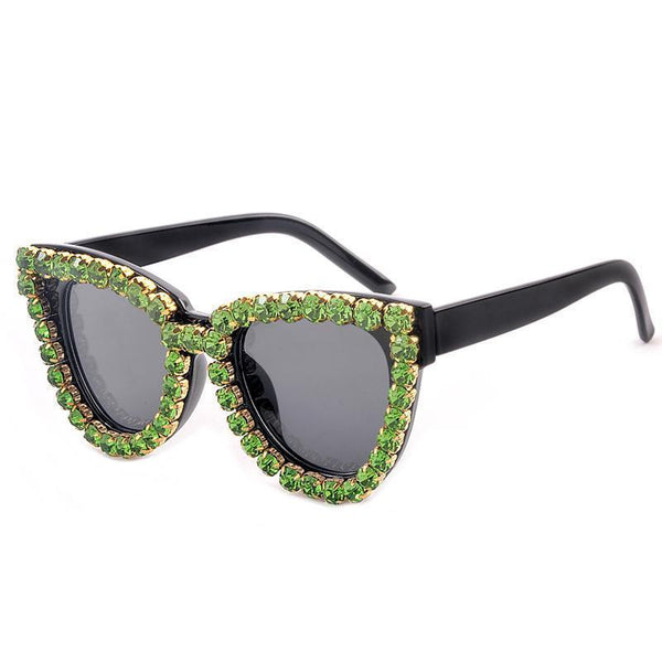 4 Colors Big Diamond Cat Eye Sunglasses