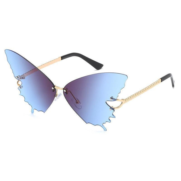 5 Colors Butterfly Shape Rimless Sunglasses