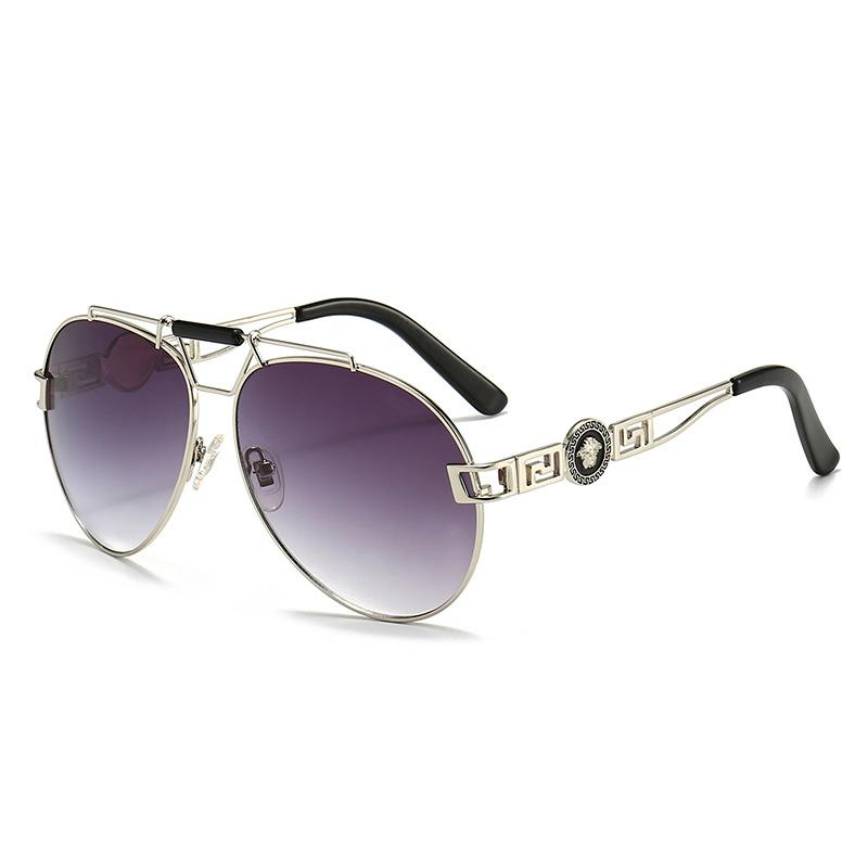 6 Colors Retro Head Portrait Metal Frame Sunglasses