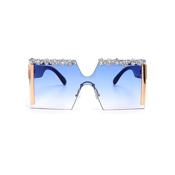 6 Colors Handmade Diamond Big Square Frame Sunglasses