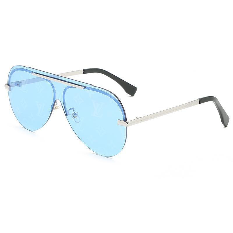 4 Colors Watermark Conjoined Frameless Lens Sunglasses