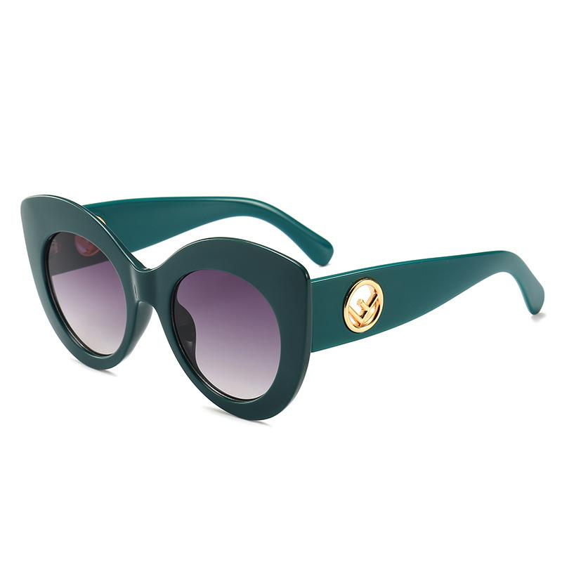 7 Colors Printing Cat Eye Hollow Out Letter Sunglasses