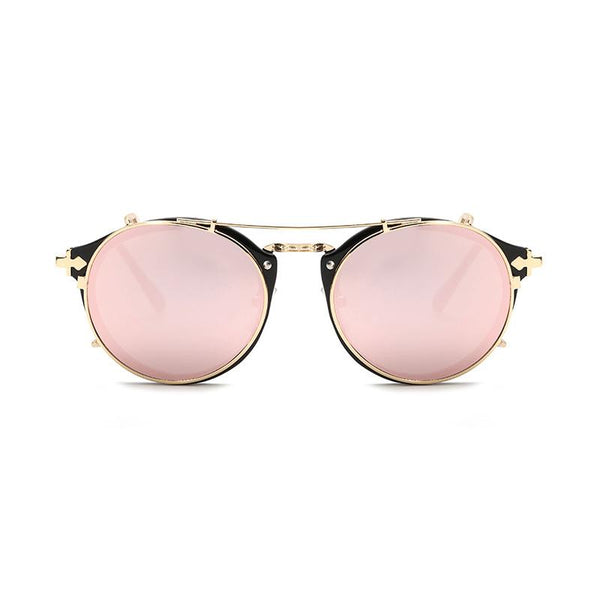 7 Colors 2 IN 1 Retro Round Sunglasses
