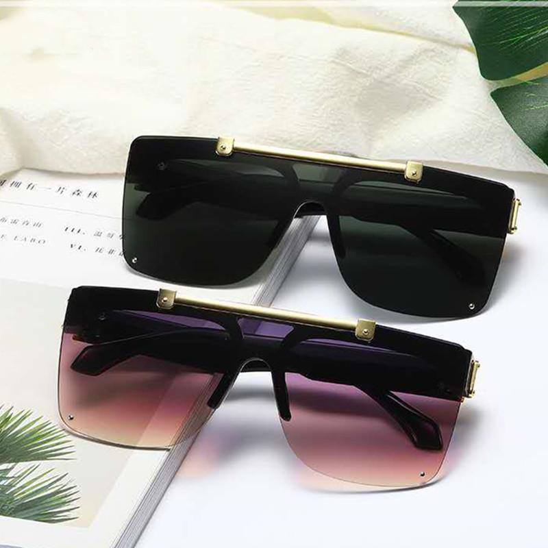 7 Colors Flip Up Lens Frameless Sunglasses