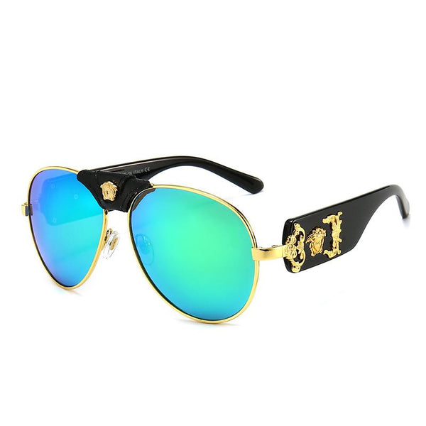 9 Colors Retro Metal Portrait Round Sunglasses