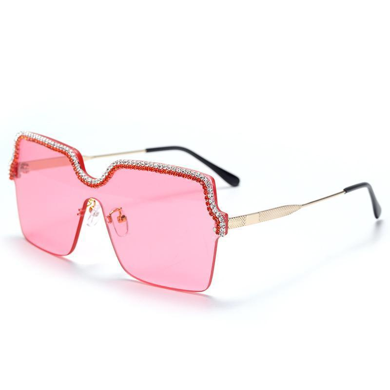 5 Colors Diamond Chain Square Frame Sunglasses