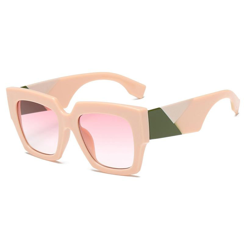 7 Colors Three-color Temple Retro Square Sunglasses