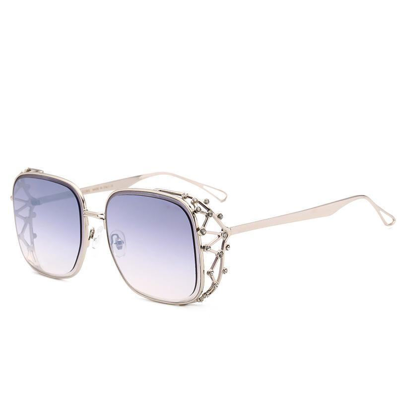 5 Colors Hollow Out Diamond Square Frame Sunglasses