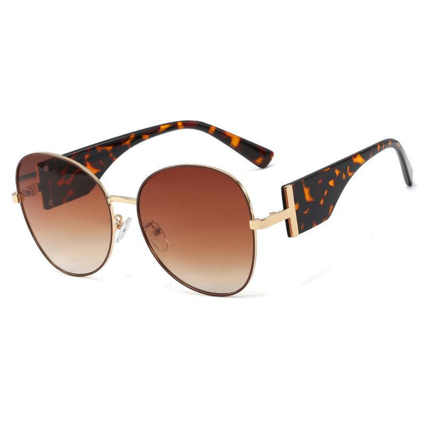6 Colors Round Metal Big Frame Sunglasses