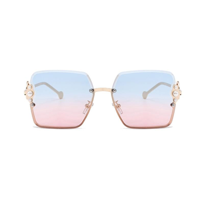 5 Colors Pearl Decoration Metal Frame Sunglasses
