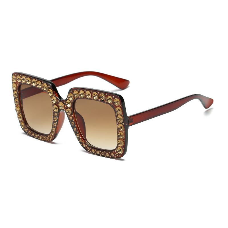 8 Colors Big Diamond Square Frame Sunglasses