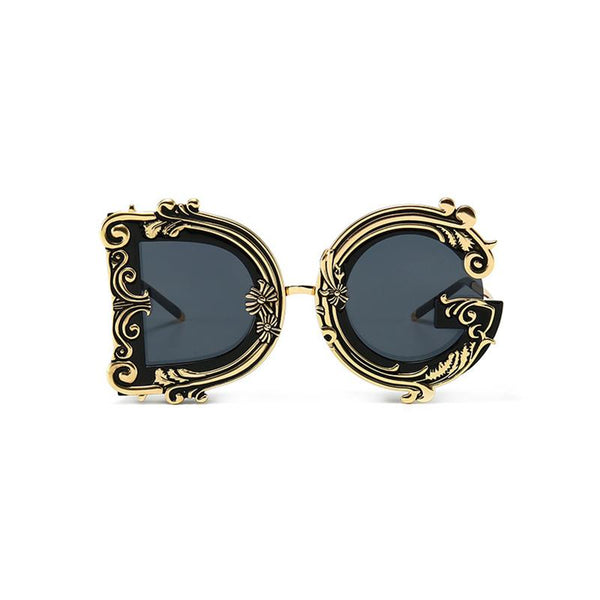 5 Colors Retro Baroque Style Sunglasses
