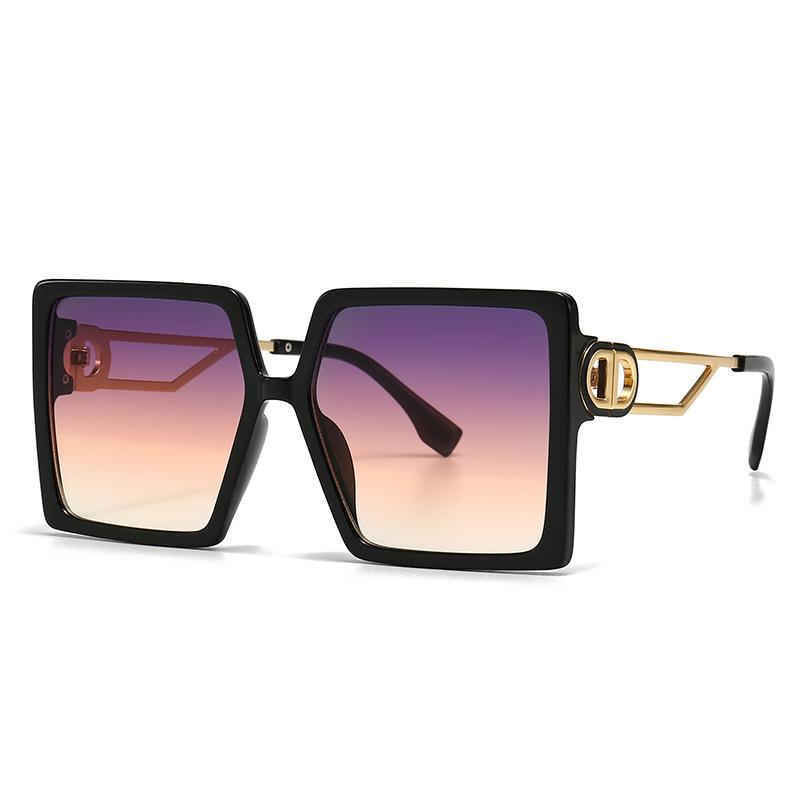 7 Colors Hollow Out Legs Large Square Frame Sunglasses