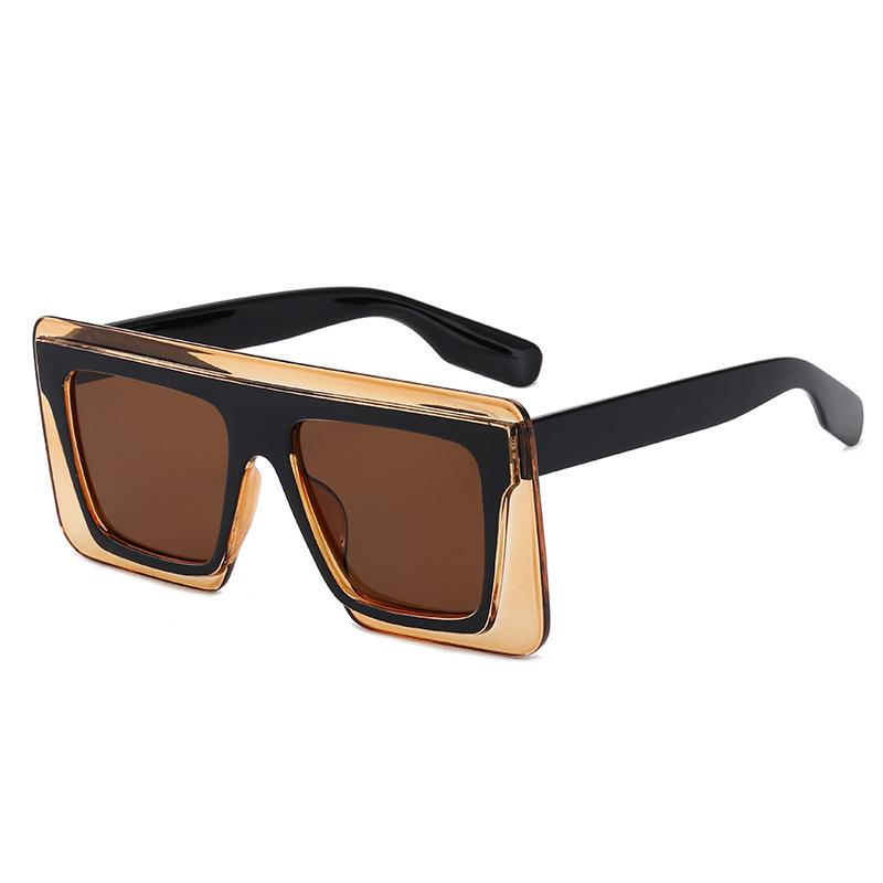 7 Colors Bicolored Copper Mold Conjoined Lens Sunglasses