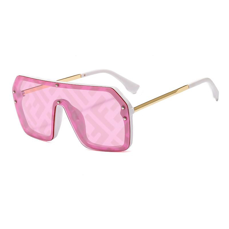 6 Colors Fashion Watermark Conjoined Lens Sunglasses