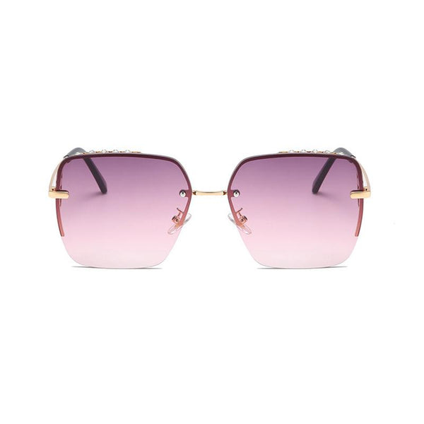 5 Colors Diamond Metal Square Frame Sunglasses