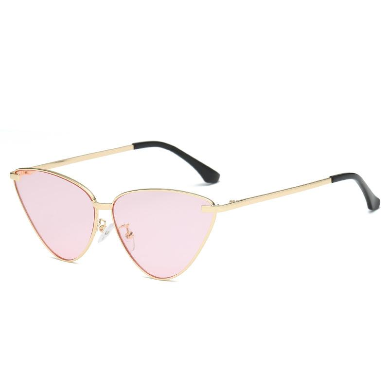6 Colors Retro Metal Frame Cat Eye Sunglasses