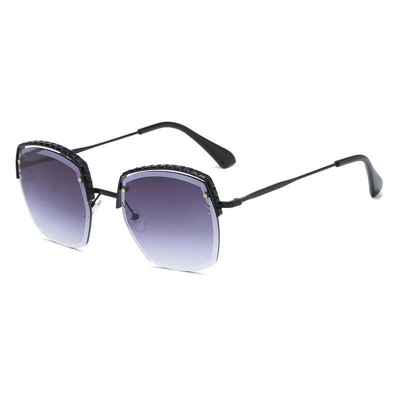 6 Colors Ocean Metal Half Frame Sunglasses