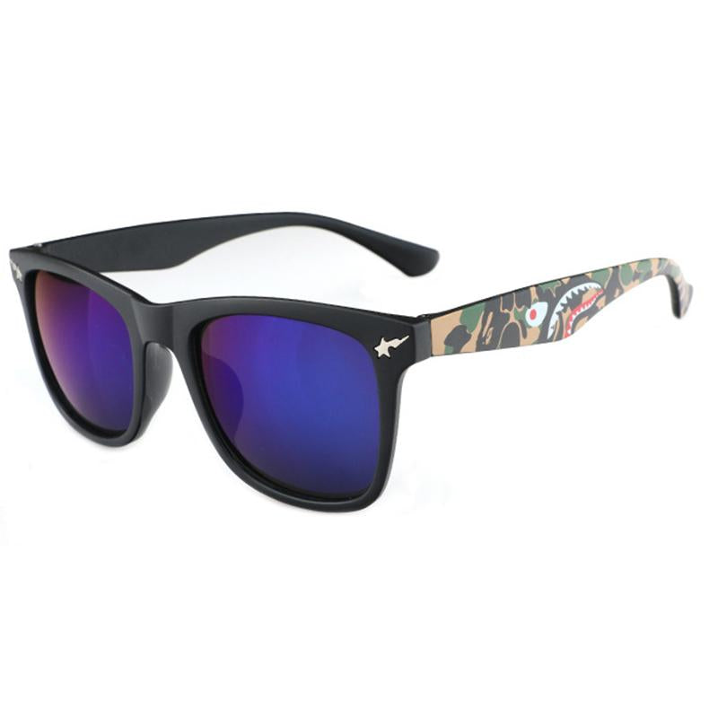 8 Colors Camouflage Shark Square Sunglasses