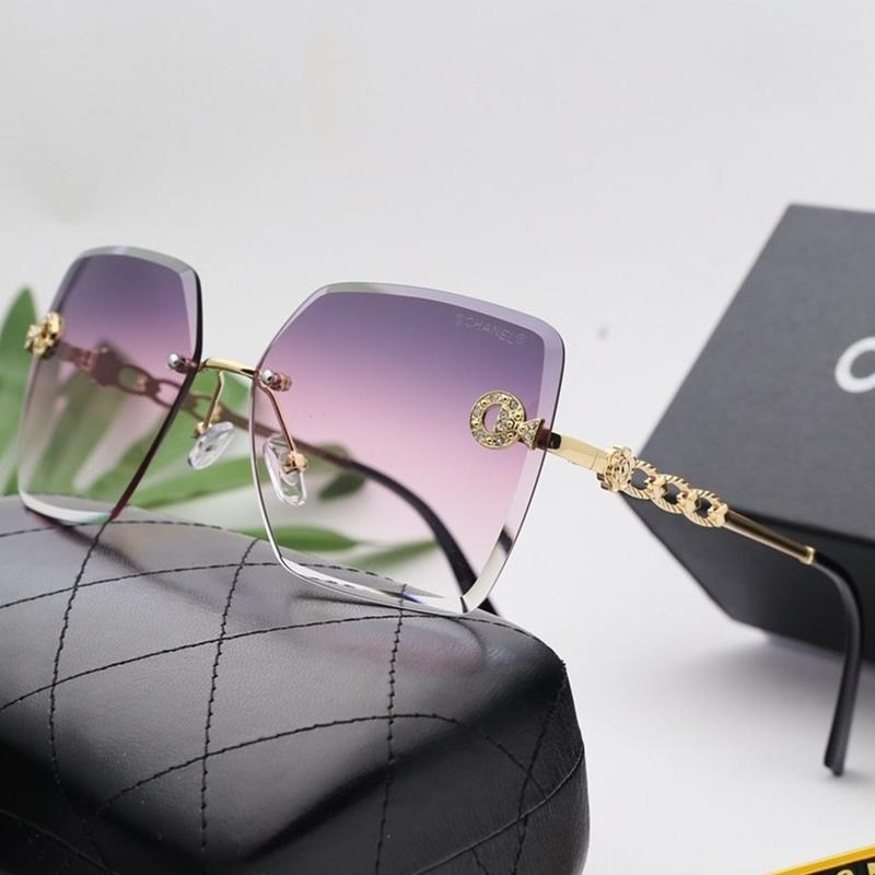 6 Colors Gradients Ocean Lens Frameless Sunglasses
