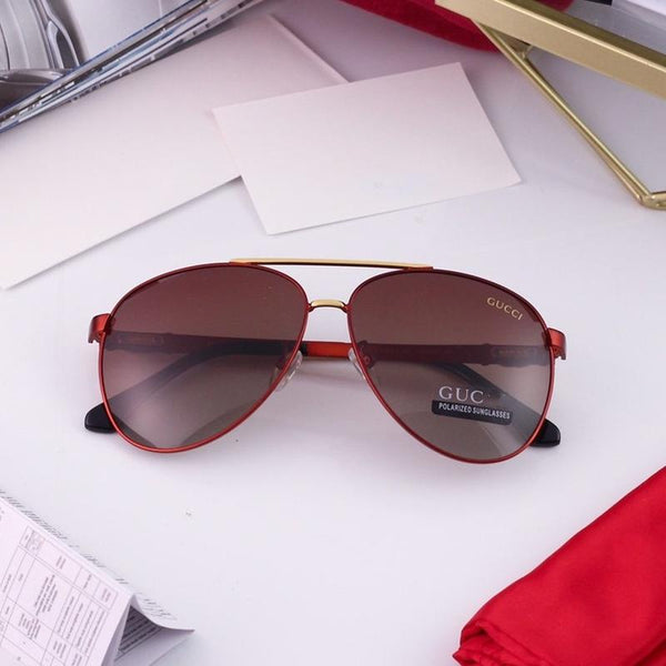 6 Colors Fashion Double Bridge Electroplated Frame Men Polarized Sunglasses