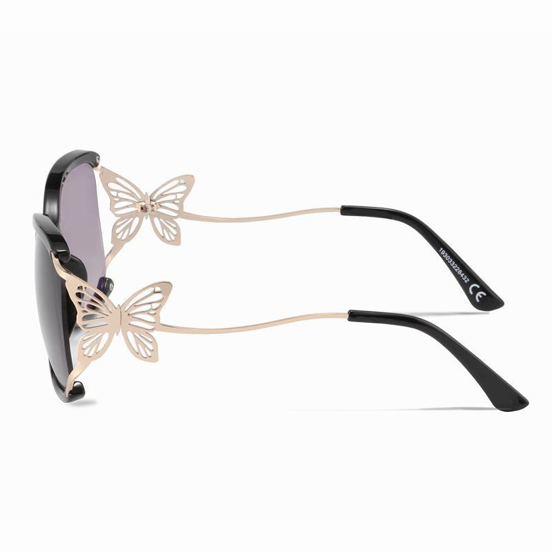 Black Hollow Out Butterfly Sunglasses