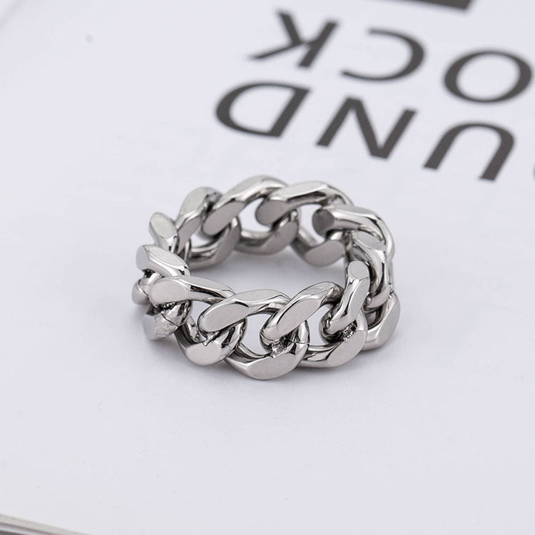 Hollow personality chain ring