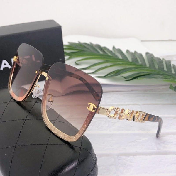 7 Colors Diamond Letters Half Frame Sunglasses