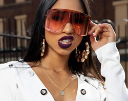 Net red big frame windproof hip-hop sunglasses