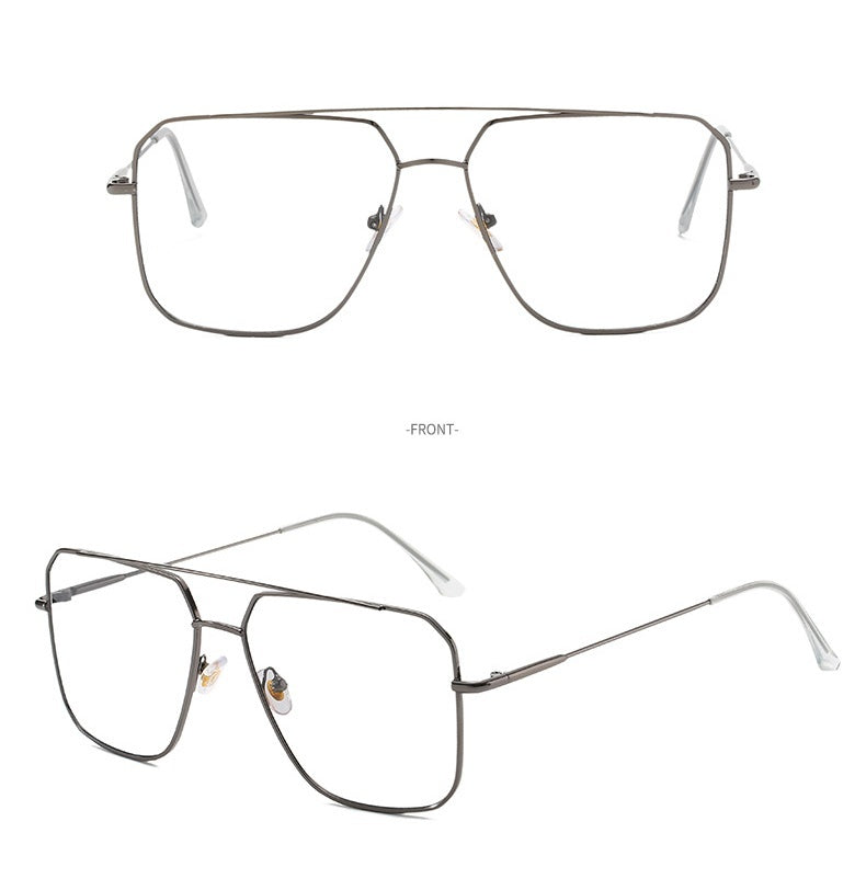 Trendy retro round metal glasses