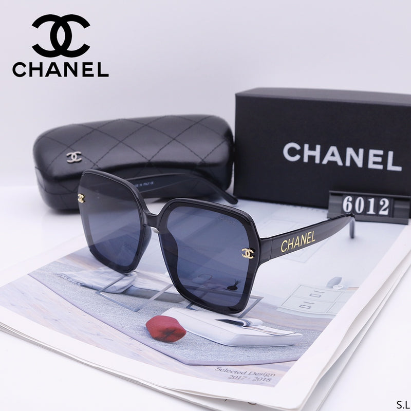 Retro fashion big frame letter sunglasses