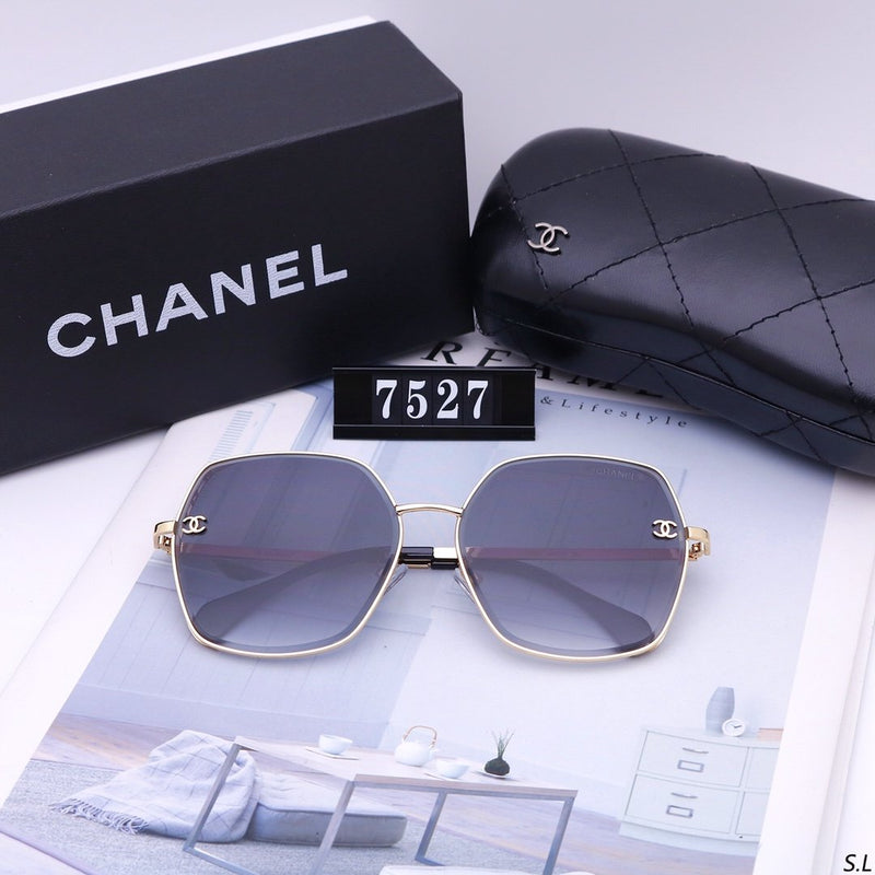 5 Colors Hollow Out Letter Metal Frame Sunglasses