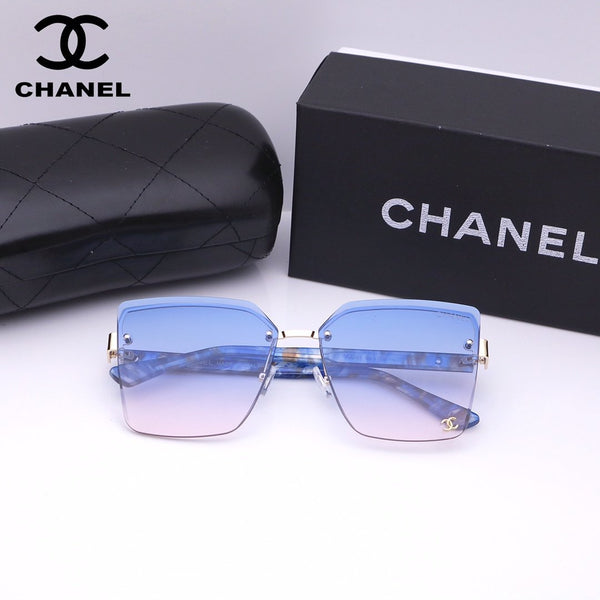 Fashion rimless gradient sunglasses
