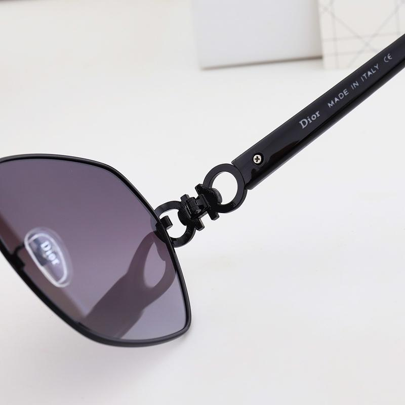 5 Colors Hollowed Out Circle Sidepiece Polarized Sunglasses