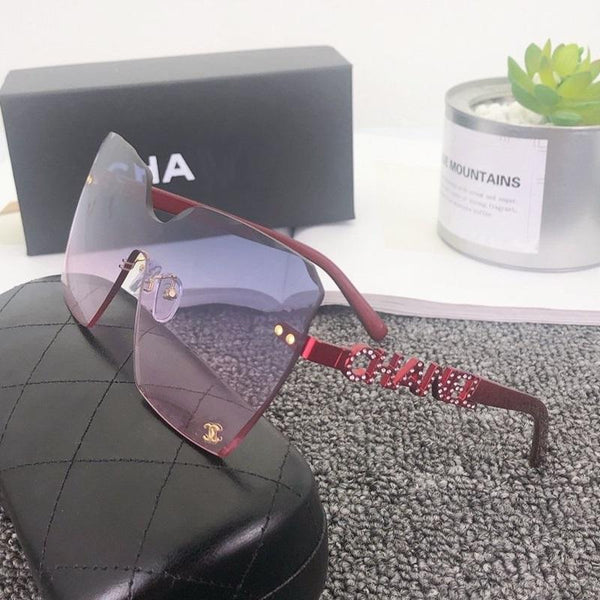 7 Colors Diamond Letters Frameless Sunglasses